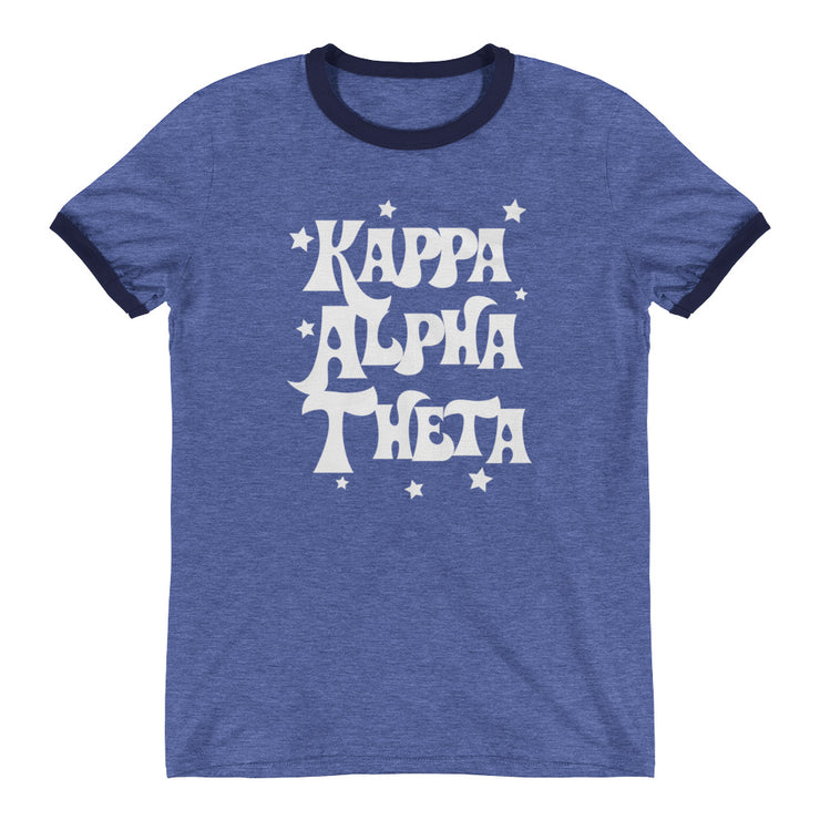 Kappa Alpha Theta Starred Up Ringer T-Shirt