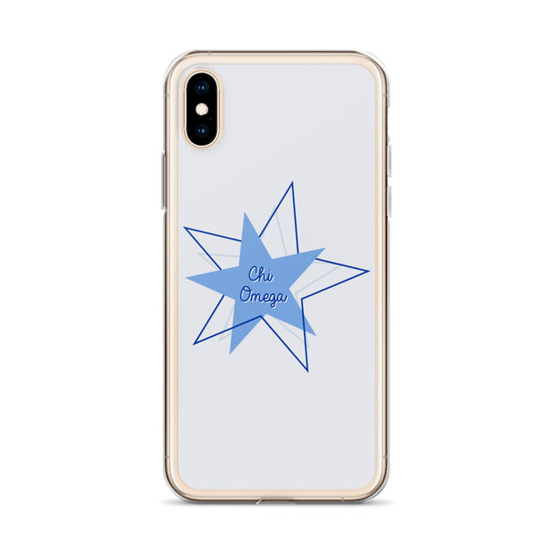 Chi Omega Phone Case - Bring on the Blue Stars