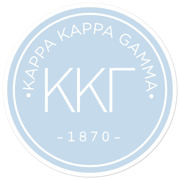 Kappa Kappa Gamma circle sticker