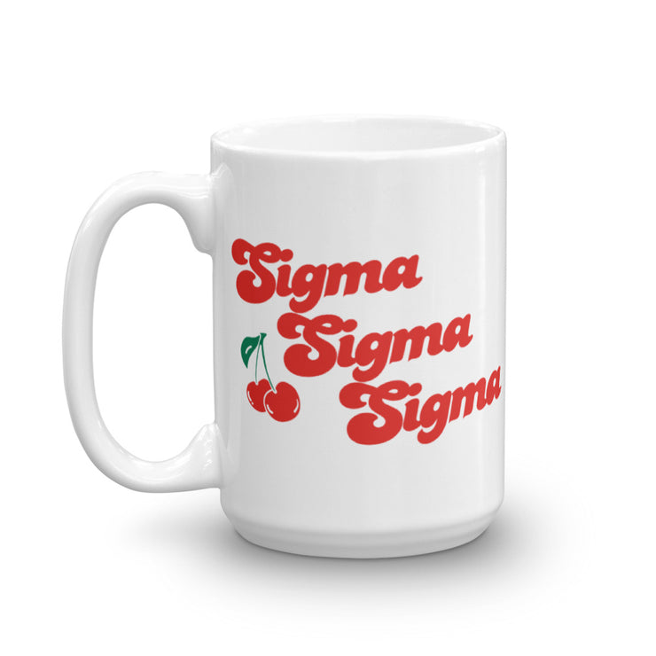 Sigma Sigma Sigma Coffee Mug - Cherry on Top