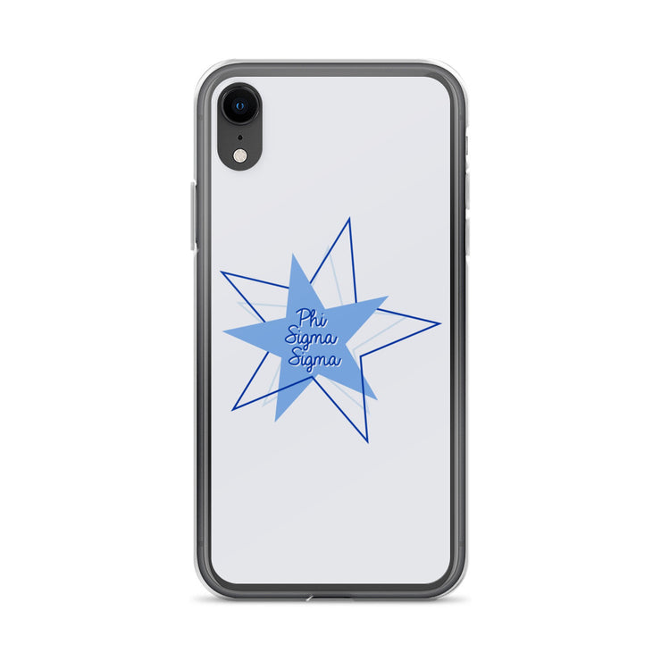 Phi Sigma Sigma Phone Case - Bring on the Blue Stars