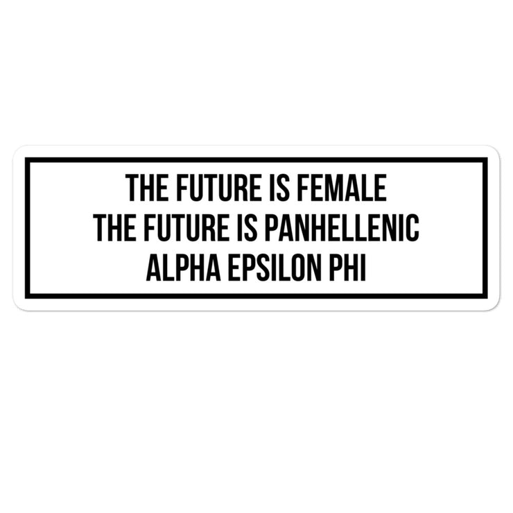 Alpha Epsilon Phi The Future is Panhellenic - Sticker