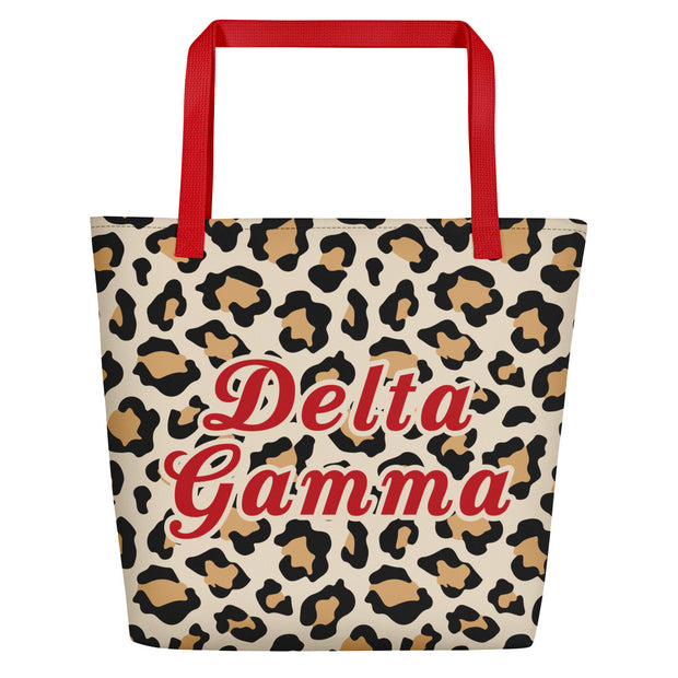 Delta Gamma Red Hot Cheetah - Tote Bag