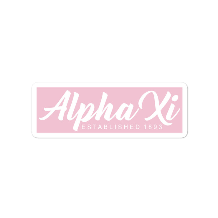 Alpha Xi Delta script stickers