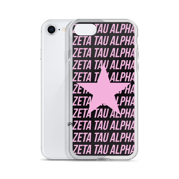 Zeta Tau Alpha Phone Case - Center of Attention Star