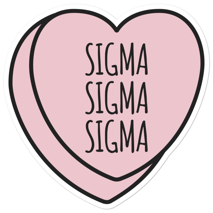 Sigma Sigma Sigma Sweetheart - Sticker