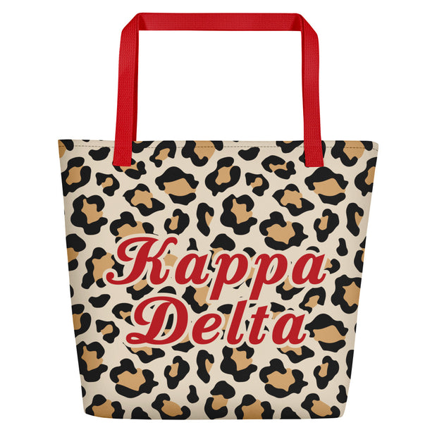 Kappa Delta Red Hot Cheetah - Tote Bag