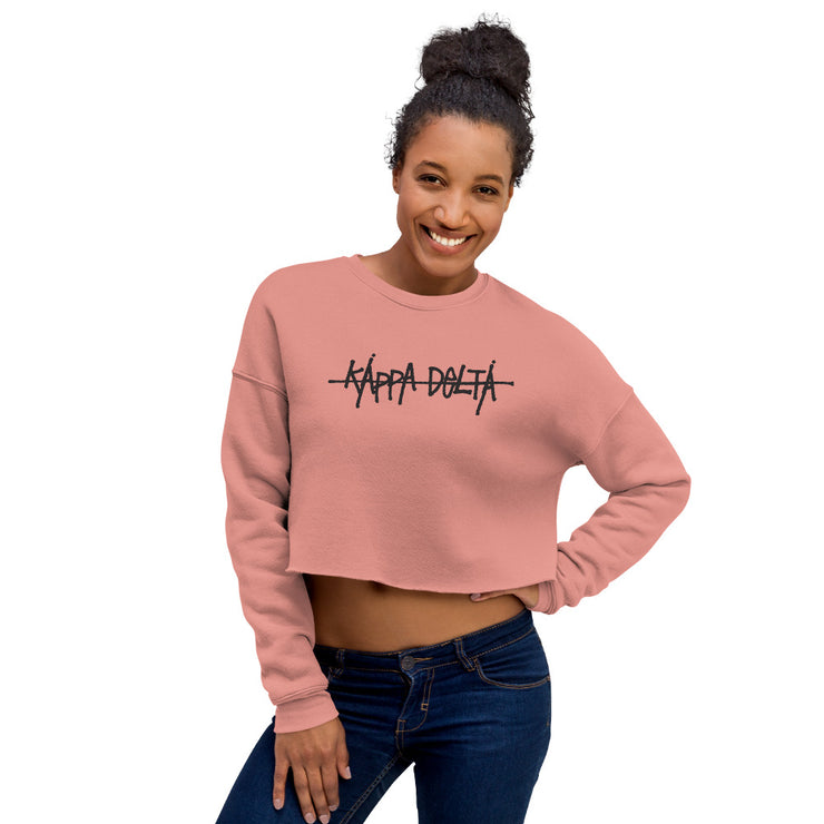 Graffiti Cropped Sweatshirt