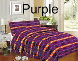 #0445: 4 piece Queen Size Southwest Design Luxury Comforter Set