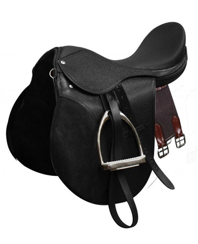 "18"" Black All-Purpose English Style Saddle"