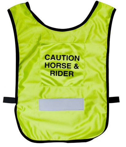 Large Caution Horse & Rider Reflective Vest