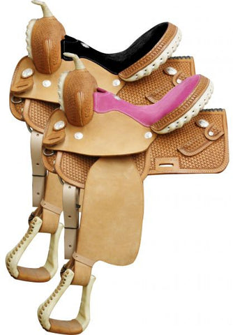 #1280: Circle S Square Skirted Barrel Style Saddle