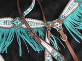 "#13275: Showman ® "" Arctic Aztec"" Headstall and breast collar set"