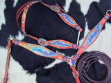 "#13995: Showman® ""Freedom"" feather headstall and breast collar set"