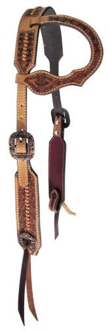 #14068: Showman ® Argentina cow leather single ear headstall