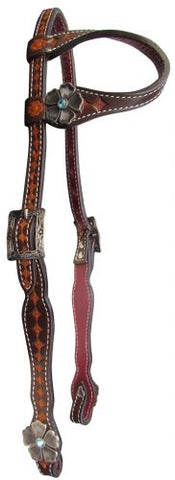 #14084: Showman ® Argentina cow leather single ear headstall
