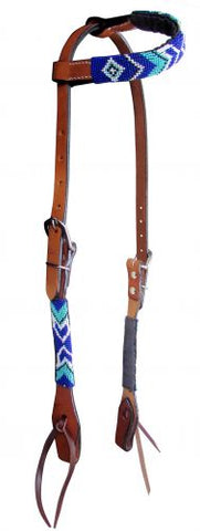#14085: Showman ® Arrow Beaded one ear headstall