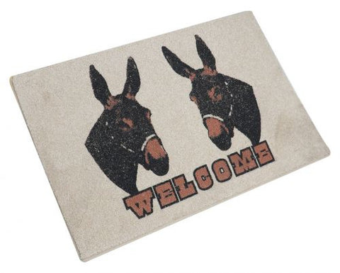 "#1542: 27"" x 18"" 2 Mules Welcome Mat"