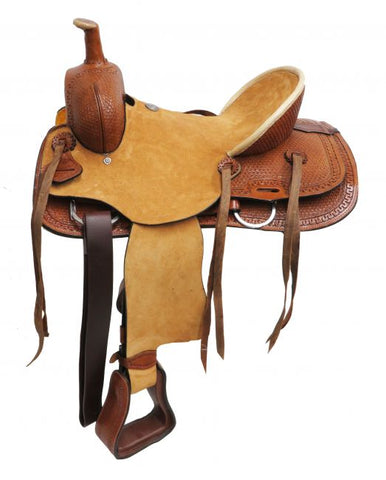"#1580313: 13"" Double T  Youth hard seat roper style saddle"