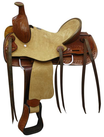 Double T Youth hard seat roper style saddle