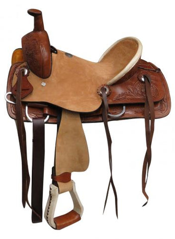 "13"" Double T Youth hard seat roper style saddle"