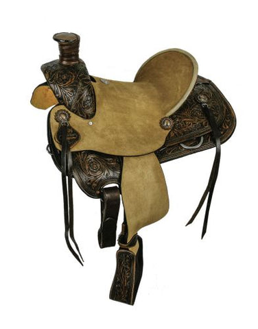 "15"" and 15"" Double T hard seat roper style saddle"