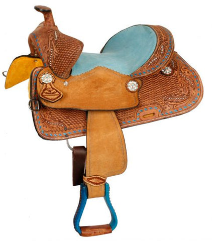 "#15836: 12"", 13"" Double T  Youth Bear Trap style saddle"