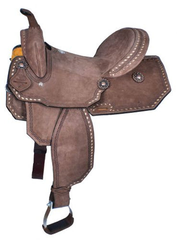 "#1583915: 15"" Double T  Roughout Barrel Style Saddle"