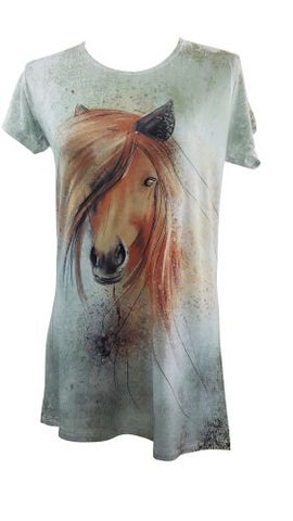 "#1604500: ""Preppy Horse"" Round Neck T-Shirt"