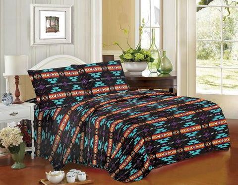 #16112K: 4PC King Size Navajo Print Sheet Set