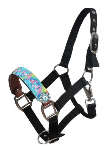 "#16416: Showman ® PONY SIZE  ""Rainbow Pony"" halter"