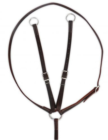 Showman ® Argentina cow leather running martingale