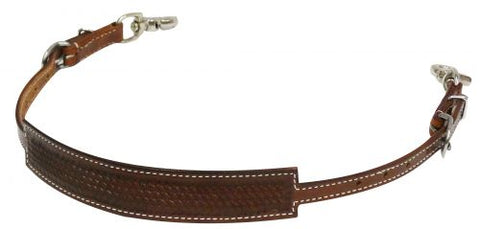 #175886: Showman ® Basket weave tooled wither strap