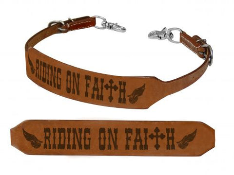 Showman ® Riding on Faith branded wither strap