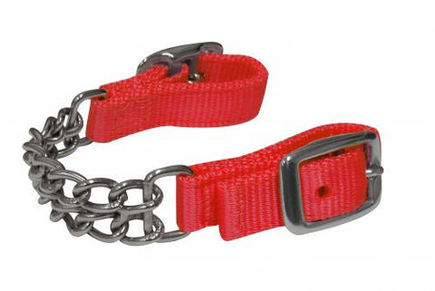 Red Showman ® Fully adjustable end double chain nylon curb chain