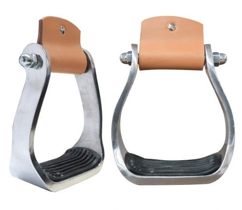 #176339: Showman ® Pony/Youth polished aluminum stirrup with rubber tread