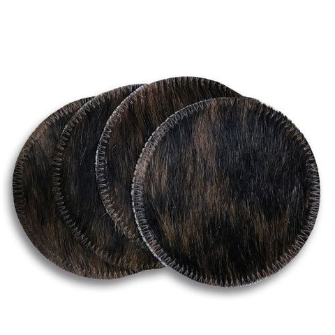 #1828: Brindle Cowhide Coasters