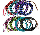 Lime/Black Showman ® 4.5 ft Braided nylon Over & Under whip