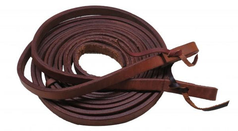 "#19312: Showman ® 5/8"" x 8ft Argentina cow leather split reins"