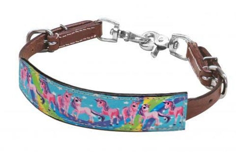 "#193801: Showman ® PONY SIZE  "" Rainbow Pony"" wither strap"