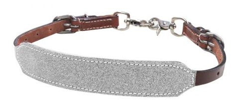 #19411: Showman ® Glitter overlay leather wither strap