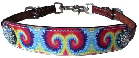 #19476: Showman ® Tie Dye print wither strap