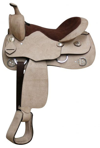 Economy Rough Out Leather Training Saddle