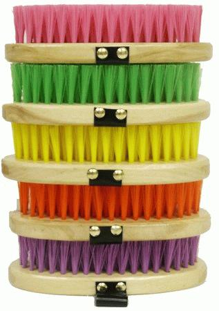 Colored pack of 10 cowboy brushes