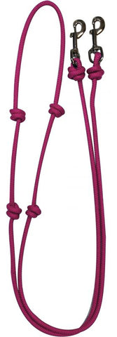 Pink knotted barrel reins