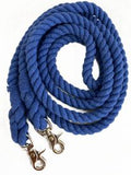 #28040: 9ft braided cotton barrel reins with scissor snap ends