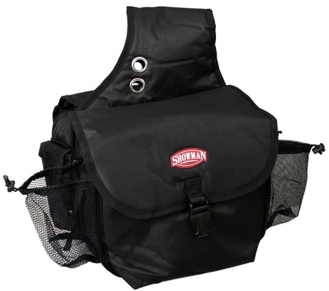 Black Showman™ nylon cordura insulated horn bag with buckle closure