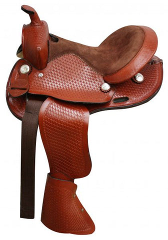 12 / Chestnut Round Skirtted pony saddle made by Double T Saddlery