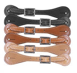 #30858: Youth leather spur straps