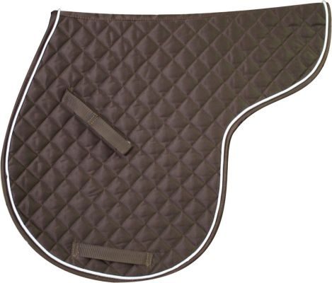 Brown Showman™ english saddle pad constructed with soft, 100% cotton twill top
